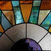 Art Deco sunburst design.